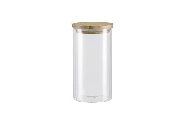 Баночка с Бамбуковой крышкой 1 литр 1 штука Nadoba Vilema Чехия