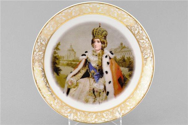 Тарелка Настенная 21 см Корованная Особа 1 штука Чехия