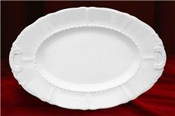 Блюдо Овальное 36 см 1 штука Соната Белая Чехия