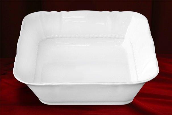 Салатник Квадратный 21 см 1 штука Соната Белая Чехия
