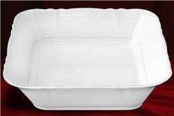 Салатник Квадратный 25 см 1 штука Соната Белая Чехия