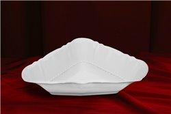 Салатник Треугольный 17 см 1 штука Соната Белая Чехия