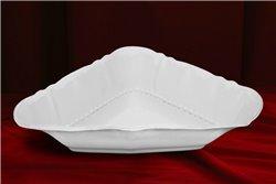 Салатник Треугольный 21 см 1 штука Соната Белая Чехия