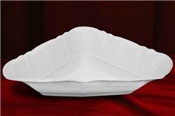 Салатник Треугольный 25 см 1 штука Соната Белая Чехия