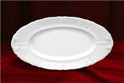 Блюдо Овальное 23 см 1 штука Соната Белая Чехия