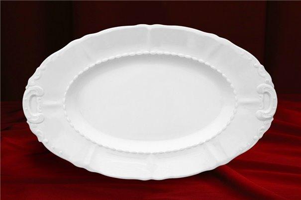 Блюдо Овальное 32 см 1 штука Соната Белая Чехия