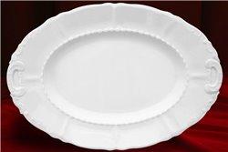 Блюдо Овальное 39 см 1 штука Соната Белая Чехия
