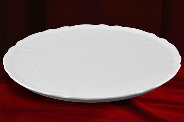 Тарелка для Торта на Ножке 26 см 1 штука Соната Белая Чехия