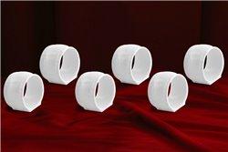 Набор Колец 6 см для Салфеток 6 штук Соната Белая Чехия