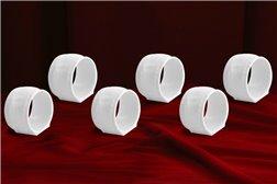 Набор Колец 5 см для Салфеток 6 штук Соната Белая Чехия