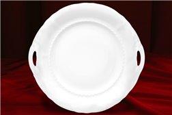 Тарелка для Торта 27 см 1 штука Соната Белая Чехия