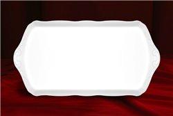 Поднос 38 см 1 штука Соната Белая Чехия