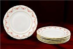 Набор Десертных Тарелок 19 см 6 штук Соната Мелкие Цветы Золото Чехия