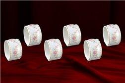 Набор Колец 5 см для Салфеток 6 штук Соната Мелкие Цветы Золото Чехия