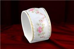 Кольцо для Салфеток 6 см 1 штука Соната Мелкие Цветы Золото Чехия