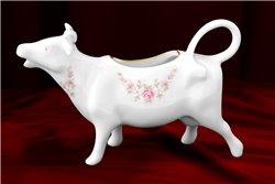 Сливочник Корова 70 мл 1 штука Соната Мелкие Цветы Золото Чехия