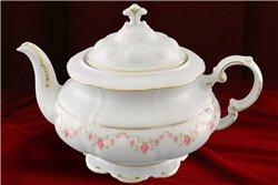 Чайник 1,5 литра 2 предмета Соната Мелкие Цветы Золото Чехия