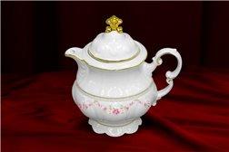 Кофейник 350 мл 2 предмета Соната Мелкие Цветы Золото Чехия