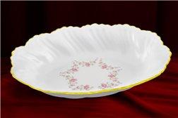 Блюдо Овальное 18 см 1 штука Соната Мелкие Цветы Золото Чехия