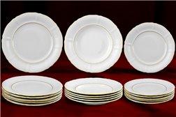 Набор Тарелок на 6 персон 18 предметов Соната Отводка Золото Чехия