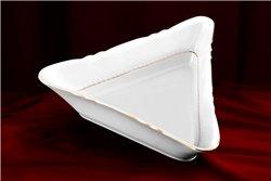 Салатник Треугольный 21 см 1 штука Соната Отводка Золото Чехия