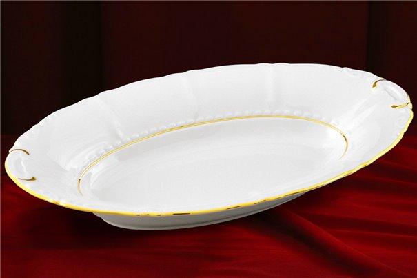 Блюдо для Хлеба 33 см 1 штука Соната Отводка Золото Чехия
