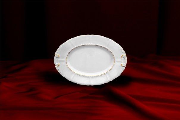 Блюдо Овальное 17 см 1 штука Соната Отводка Золото Чехия