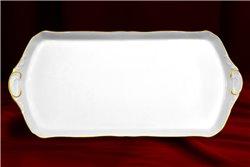 Поднос 38 см 1 штука Соната Отводка Золото Чехия