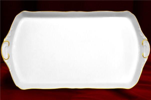 Поднос 41 см 1 штука Соната Отводка Золото Чехия