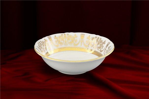 Салатник Круглый 13 см 1 штука Соната Золотой Орнамент Чехия