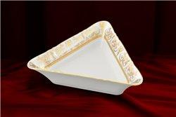 Салатник Треугольный 17 см 1 штука Соната Золотой Орнамент Чехия