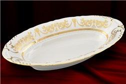 Блюдо для Хлеба 33 см 1 штука Соната Золотой Орнамент Чехия