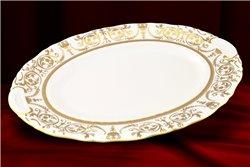 Блюдо Овальное 36 см 1 штука Соната Золотой Орнамент Чехия