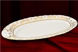 Блюдо Овальное 55 см 1 штука Соната Золотой Орнамент Чехия
