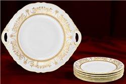 Набор для Торта 17 см 7 предметов Соната Золотой Орнамент Чехия