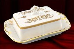 Масленка 250 мл 2 предмета Соната Золотой Орнамент Чехия