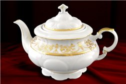 Чайник 1,5 литра 2 предмета Соната Золотой Орнамент Чехия