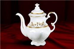 Кофейник 1,15 л 2 предмета Соната Золотой Орнамент Чехия