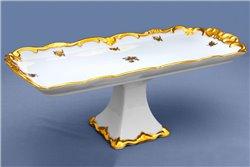 Блюдо Прямоугольное 36 см на Ножке 1 штука Катарина Золотая Роза (1007) Германия