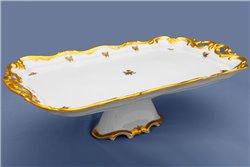 Блюдо Прямоугольное 45 см на Ножке 1 штука Катарина Золотая Роза (1007) Германия