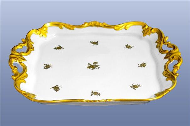 Блюдо Квадратное 30 см 1 штука Катарина Золотая Роза (1007) Германия