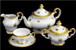 Чайный Сервиз на 6 персон 23 предмета Катарина Золотая Роза (1007) Германия