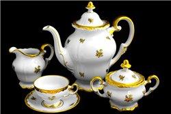 Кофейный Сервиз на 12 персон 29 предметов Катарина Золотая Роза (1007) Германия