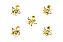 Чайный Сервиз на 6 персон 25 предметов Катарина Золотая Роза (1007) Германия
