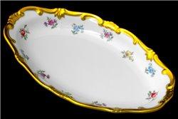Блюдо Овальное 23 см (Селедочница) 1 штука Катарина Мейсенский цветок (1016) Германия