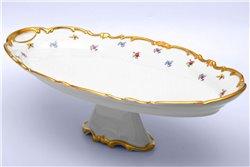 Блюдо Овальное 50 см на Ножке 1 штука Катарина Мейсенский цветок (1016) Германия