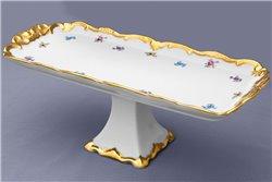 Блюдо Прямоугольное 36 см на Ножке 1 штука Катарина Мейсенский цветок (1016) Германия