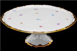 Тарелка для Торта 33 см на Ножке 1 штука Катарина Мейсенский цветок (1016) Германия