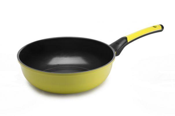 Сковорода Вок 28 см 1 штука Салатовая Oursson Palette Корея