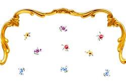 Набор Мелких Тарелок 22 см 6 штук Катарина Мейсенский цветок (1016) Германия